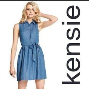 Kensie polka Dotted denim Jean Dress